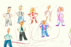Soziale Beziehungen, Kinderzeichnung